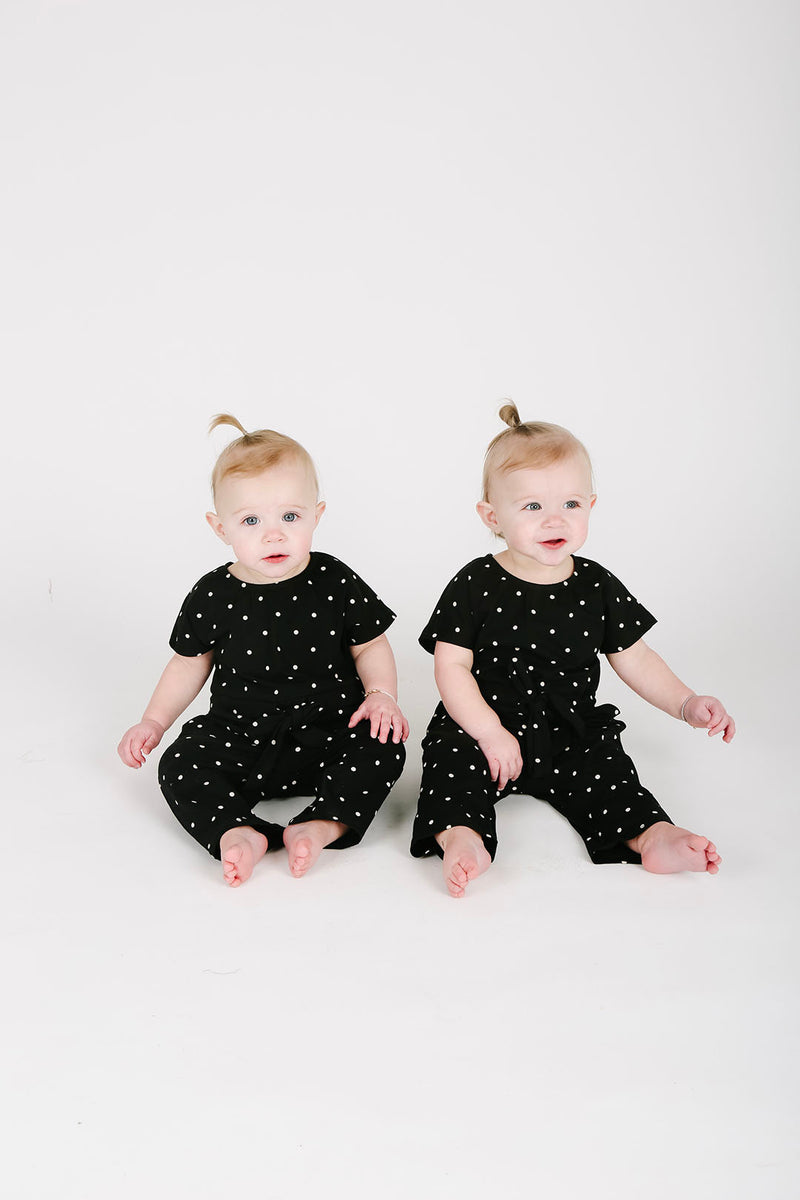Pips: The Bianca Kids Cinch Jumpsuit in Dot
