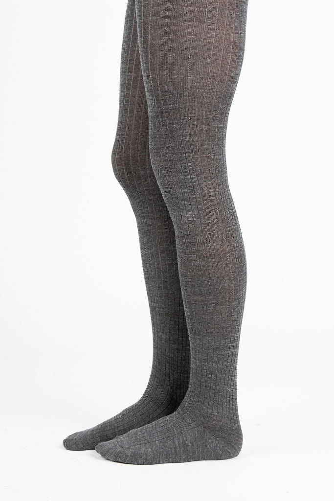 Rib Wool Tight in Grey