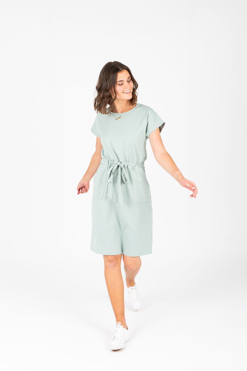 Piper & Scoot: The Casa Cinch Casual Dress in Sage
