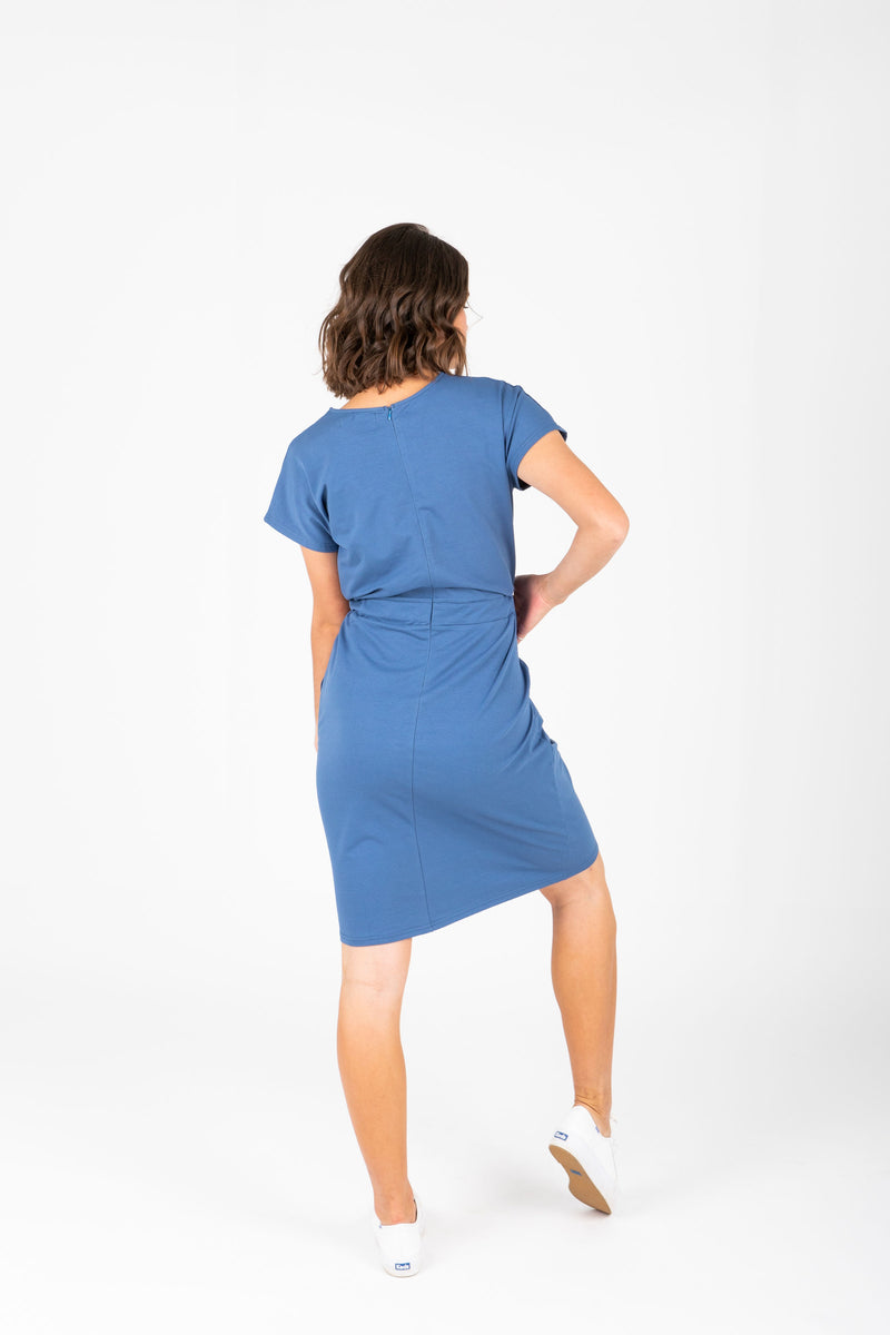 Piper & Scoot: The Casa Cinch Casual Dress in Denim Blue