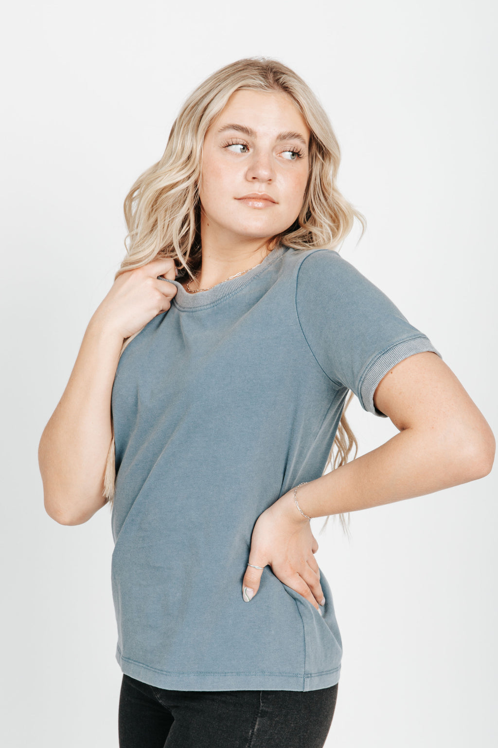 The Jackie Basic Tee in Blue