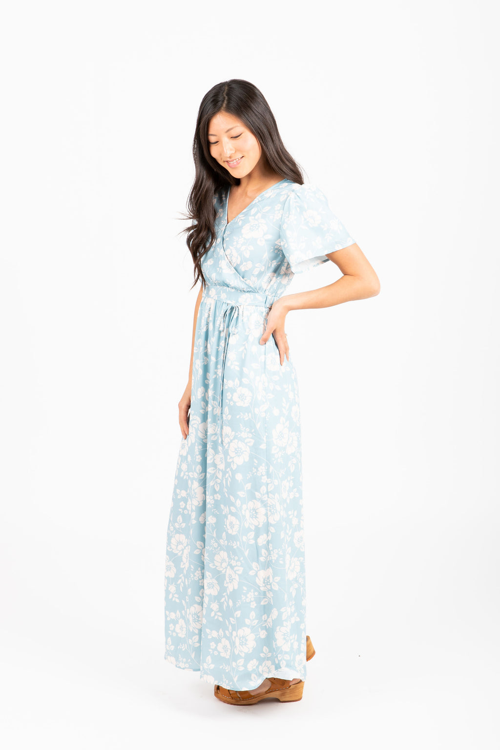 Piper & Scoot: The Cake Floral Maxi Dress in Light Blue