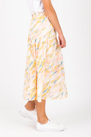 The Abstract Watercolor Skirt in Multi