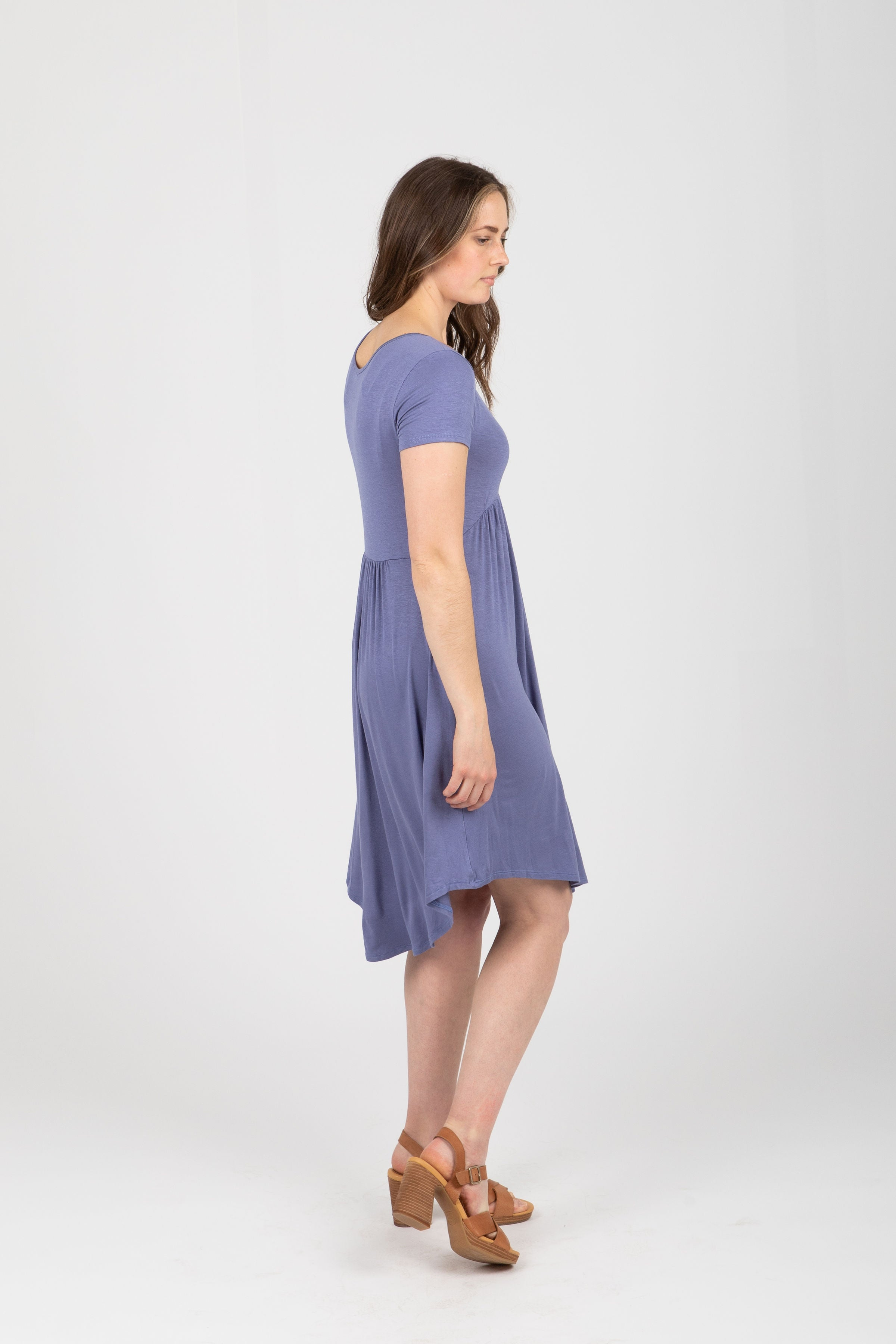 The Pearl Empire Casual Dress in Faded Indigo