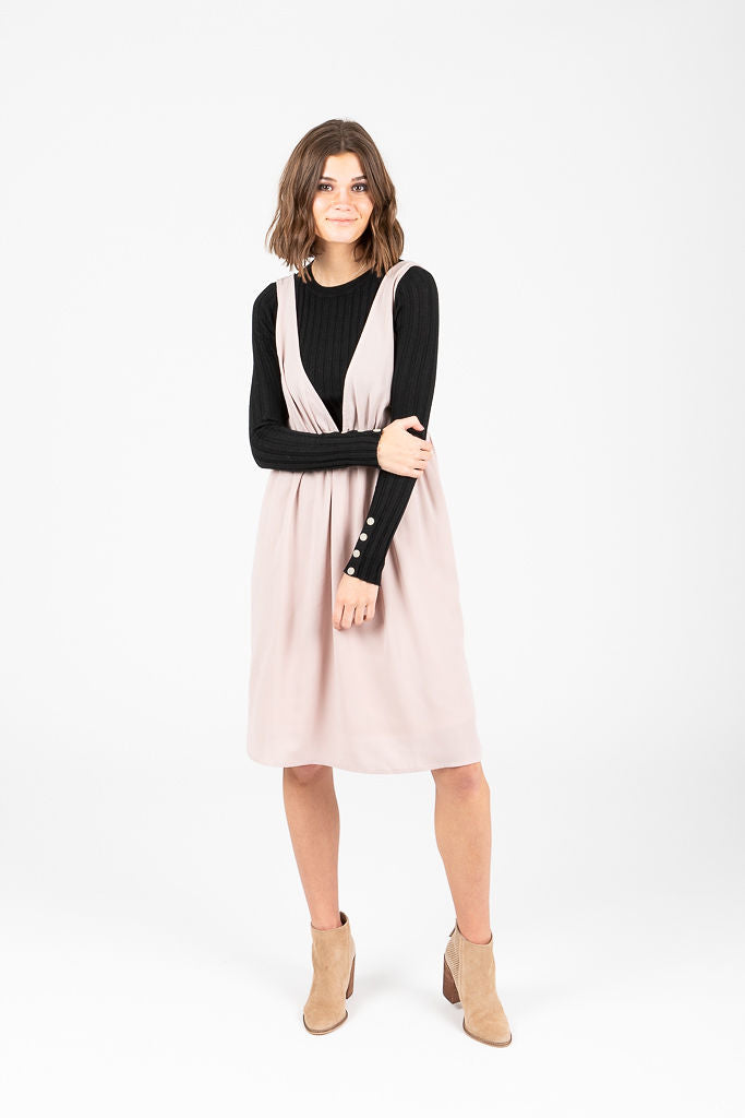 popular style factory price amazing quality The Sun Valley Jumper Dress in Taupe
