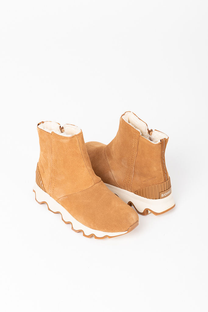 SOREL: Kinetic Short Boot in Camel Brown/Natural