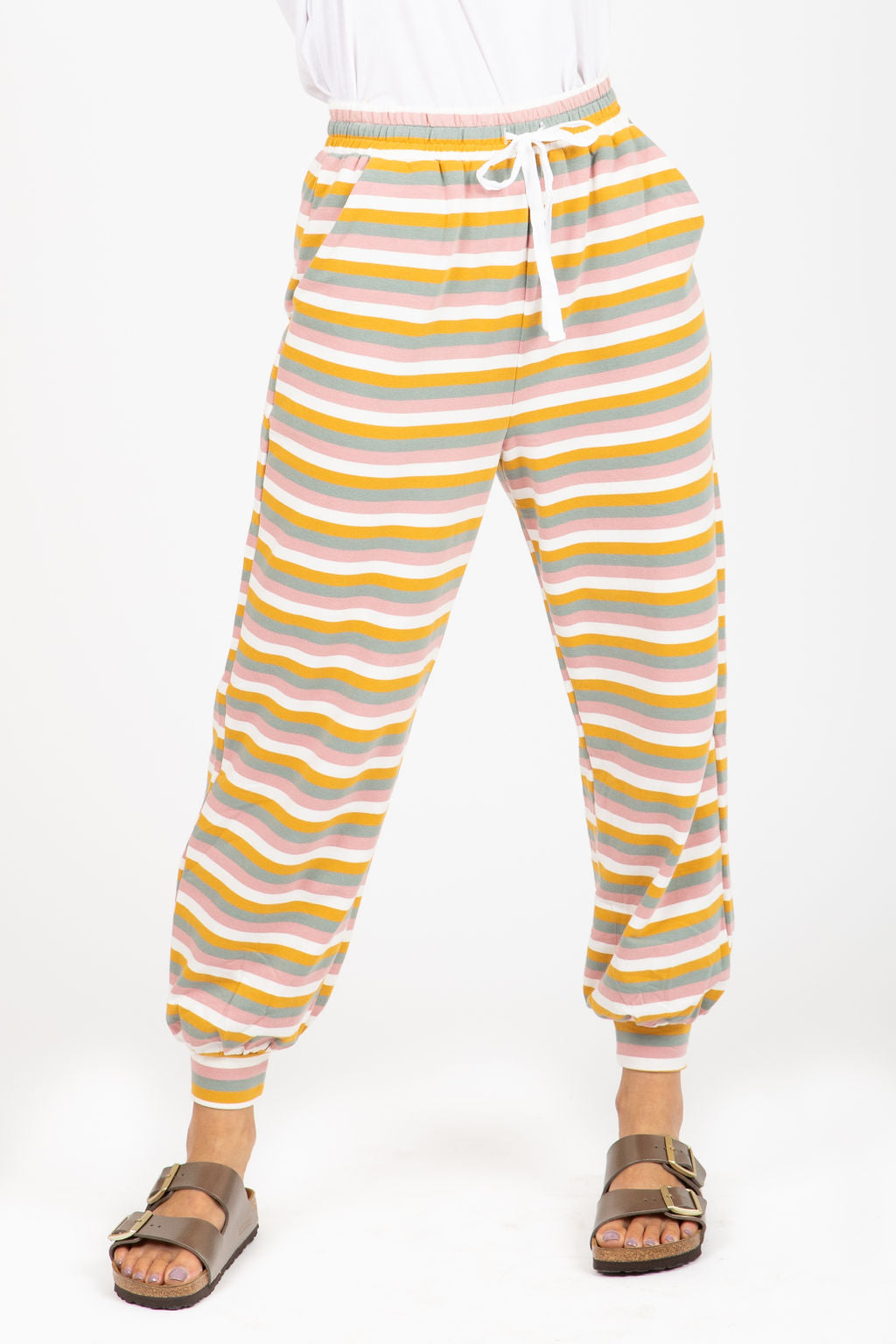 The Olsen Striped Jogger Pants in Multi