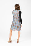 Piper & Scoot: The Brittany Jumper Dress in Chambray Floral