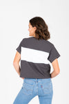 Levi's: Graphic Tee in Stitched Logo Charcoal