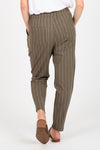 The Glitch Striped Trouser Pants in Olive