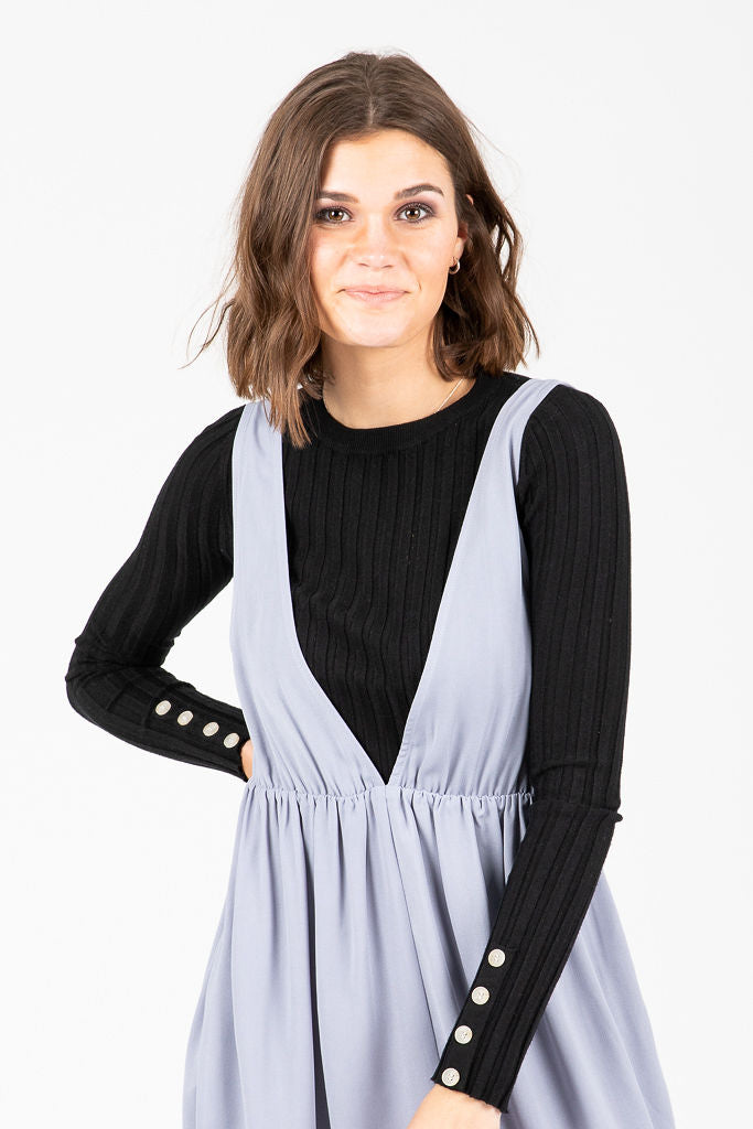 The Sun Valley Jumper Dress in Dusty Lavender
