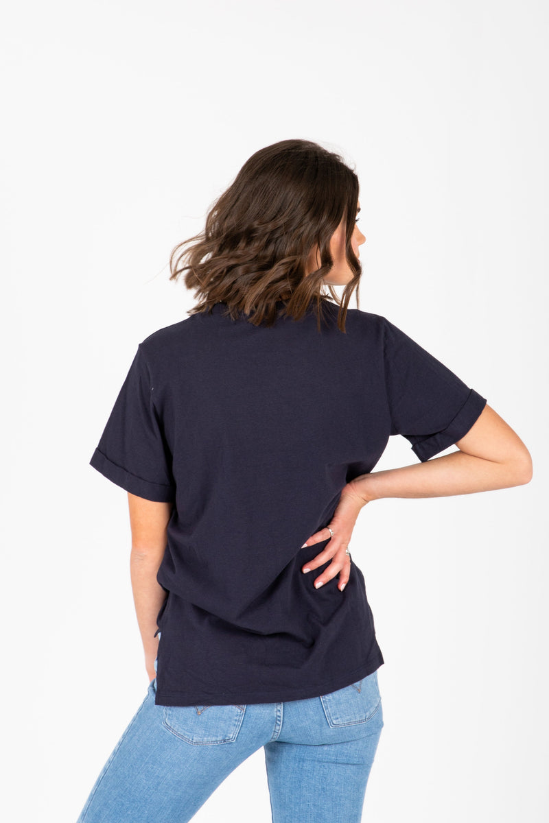 Piper & Scoot: The Tee in Navy
