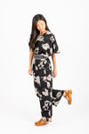 Piper & Scoot: The Gracie Floral Jumpsuit in Black