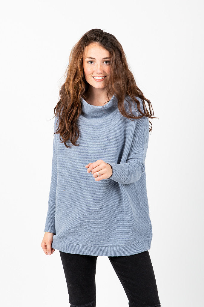 ac87382b7b0 Free People: Ottoman Slouchy Tunic in Sky – Piper & Scoot