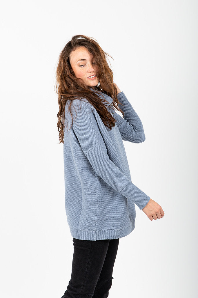 Free People Ottoman Slouchy Tunic In Sky Piper Scoot