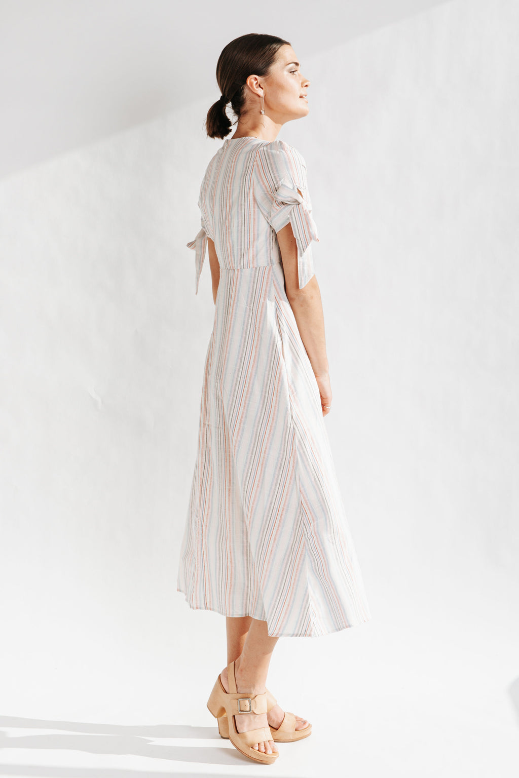 The Curtis Multi Striped Dress in Pink