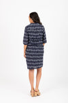 The Vice Dot Button Up Dress in Navy