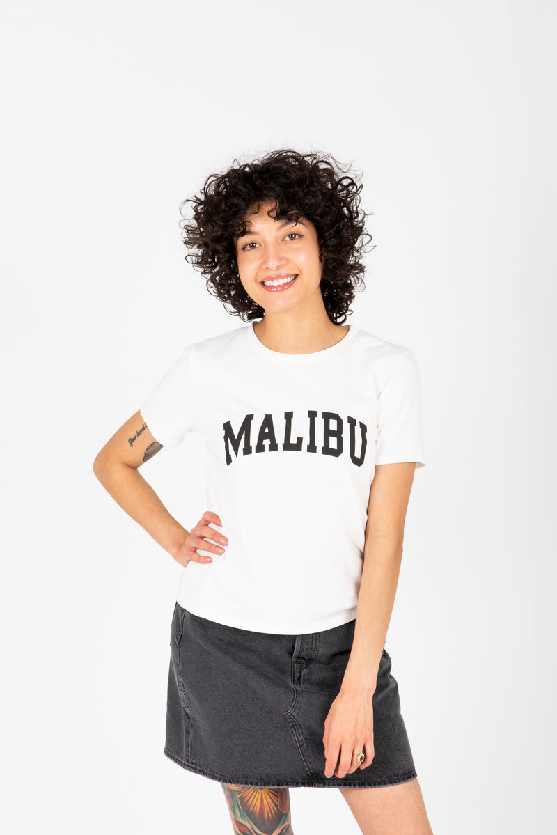 The Malibu Graphic Tee in White