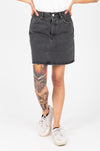 Levi's: High Rise Deconstructed Button Fly Skirt in Faded Black