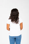 Levi's: Logo Perfect Graphic Tee in White Cactus, studio shoot; back view
