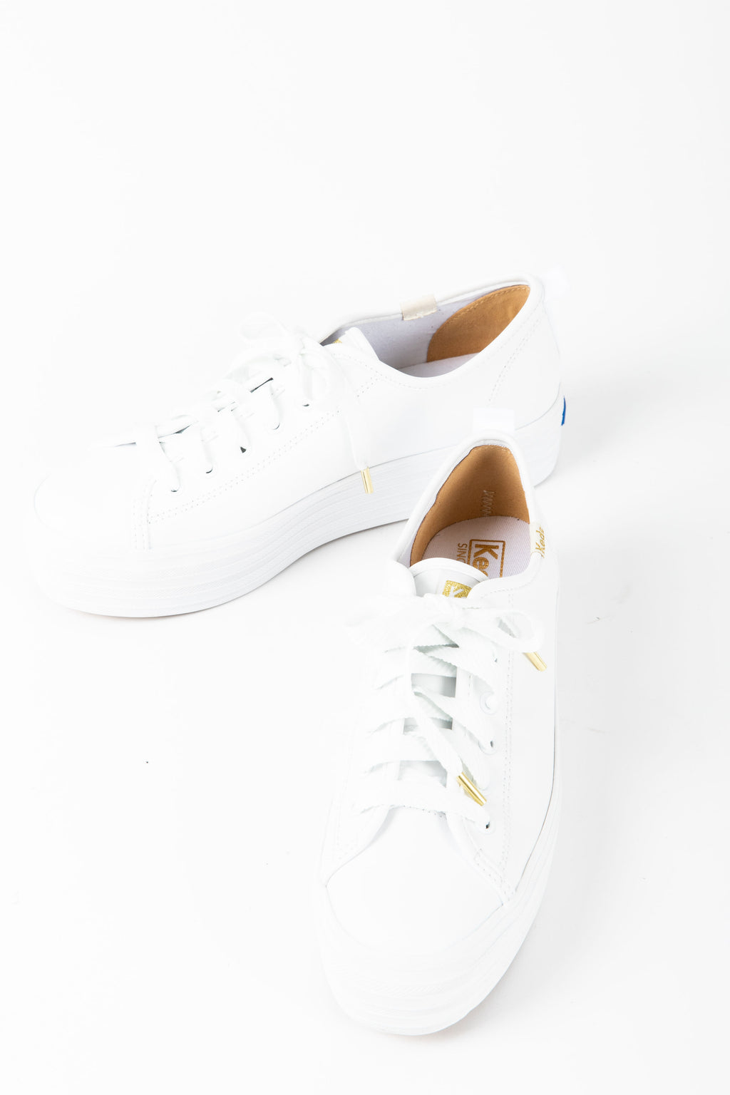 Keds: Triple Up Leather Sneaker in White