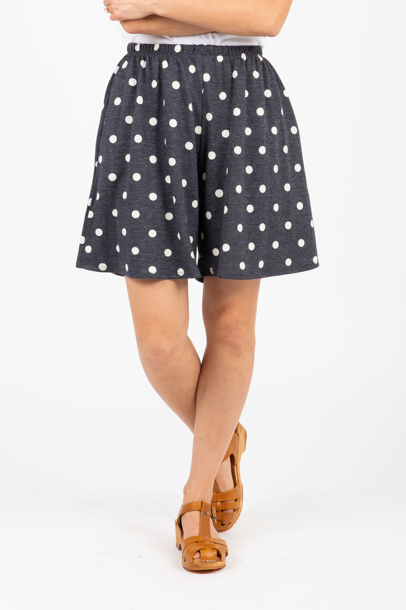 The Cruising Dot Casual Shorts in Midnight