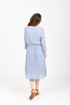 The Falls Swiss Dot Dress in Light Blue
