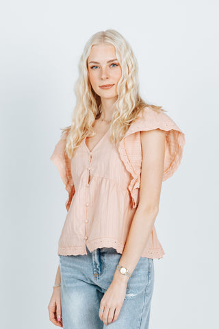 The Jonas Floral Patterned Blouse in Poppy