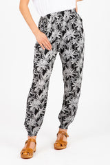 The Bunny Tropical Floral Jogger Trouser in Black