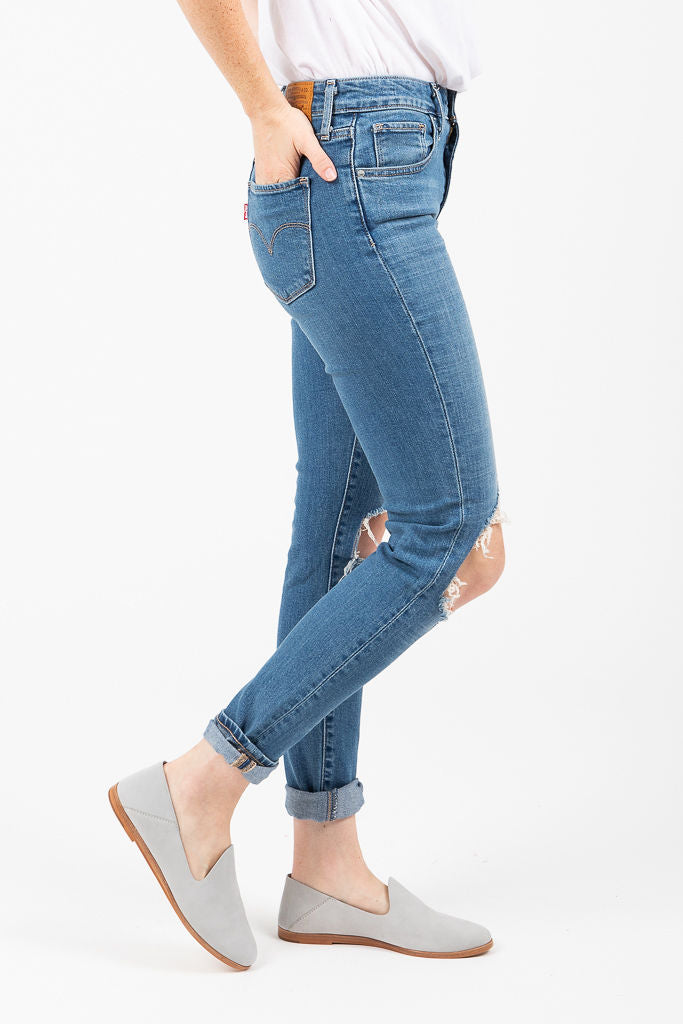 Levi's: 721 High Rise Skinny Jeans in Rugged Indigo