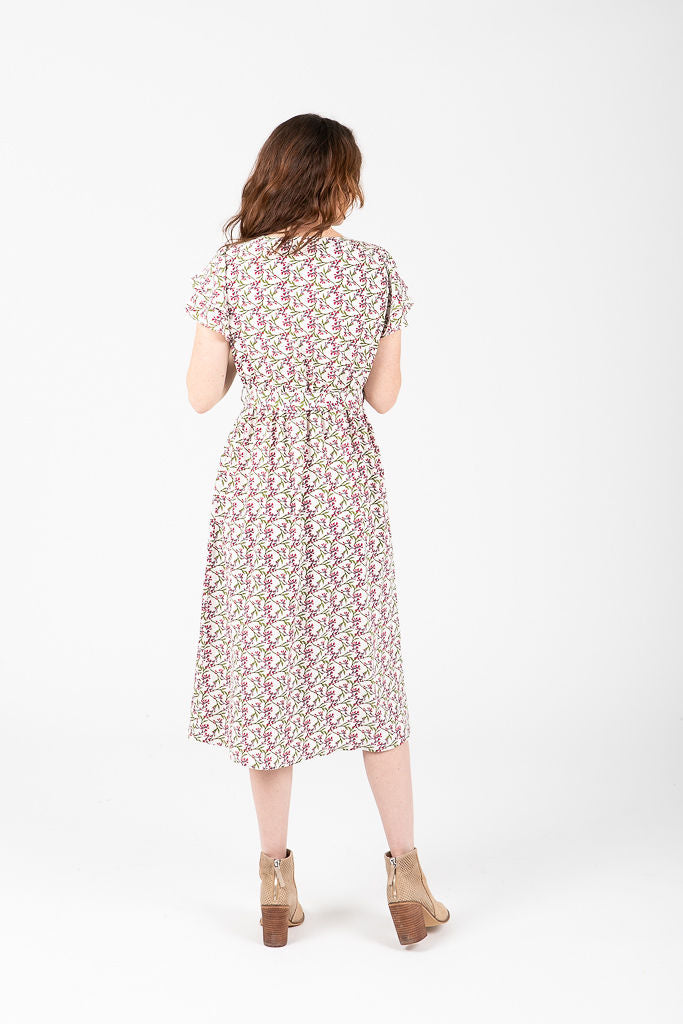 Piper & Scoot: The Madeline Tiny Floral Button Dress in Spring