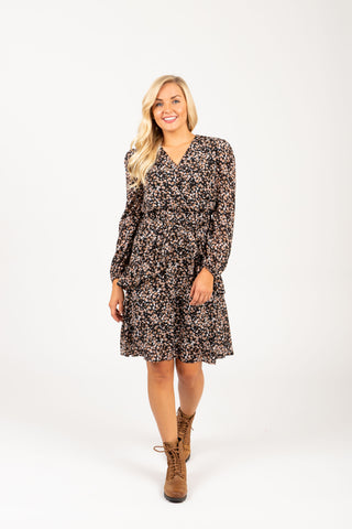 The Jackman Floral Tiered Dress in Cream
