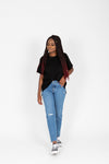 Levi's: Wedgie Fit Ankle Jeans in Athens Medium Wash