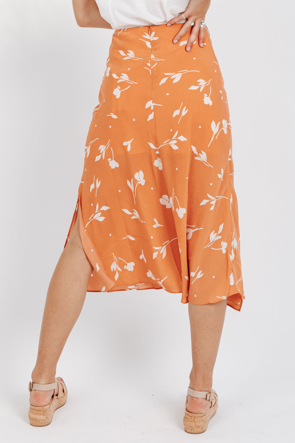 The Iggy Patterned Skirt in Salmon