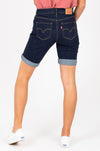 Levi's: Bermuda Womens Shorts in Royal Rinse