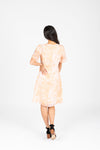 Piper & Scoot: The Kenley Detail Empire Dress in Peach, studio shoot; back view