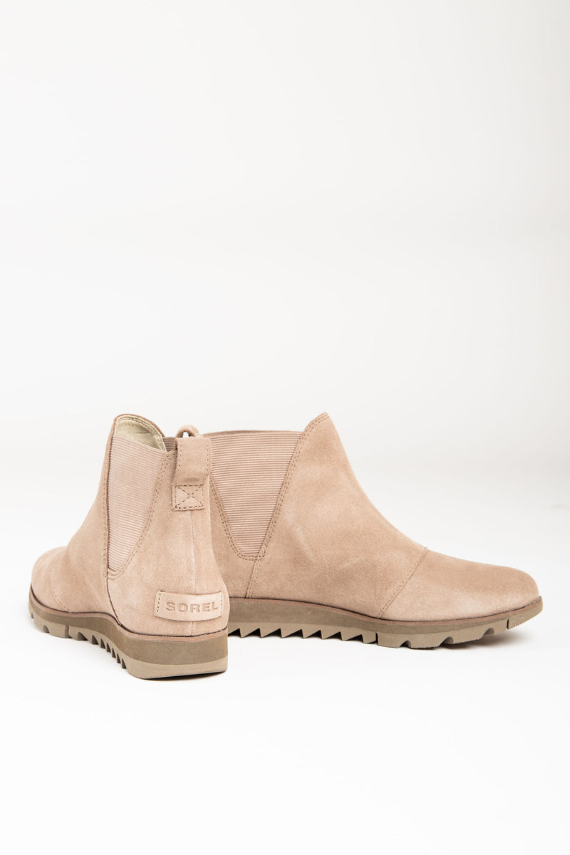 Sorel: Harlow Chelsea Boot in Ash Brown, studio shoot; front view