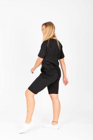 Piper & Scoot: The Kit Casual Shorts in Black