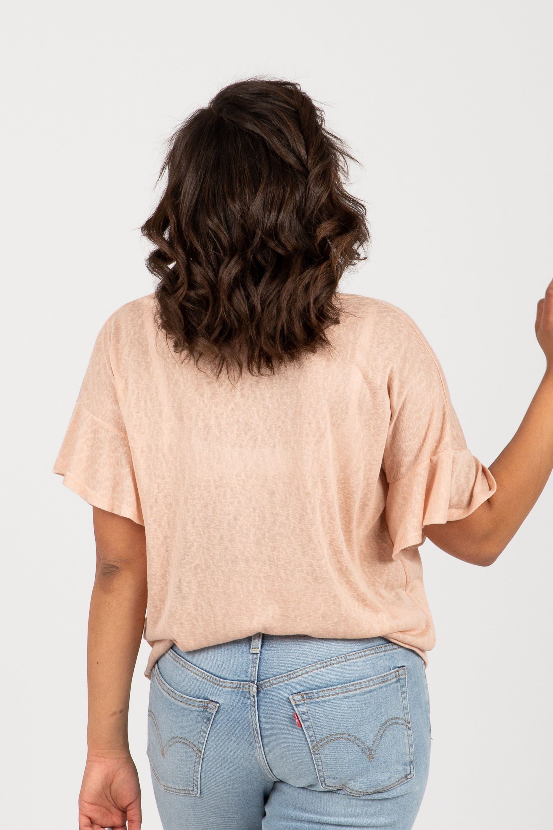 3614bc398c64b1 The Scene Flutter Tie Front Blouse in Blush – Piper & Scoot