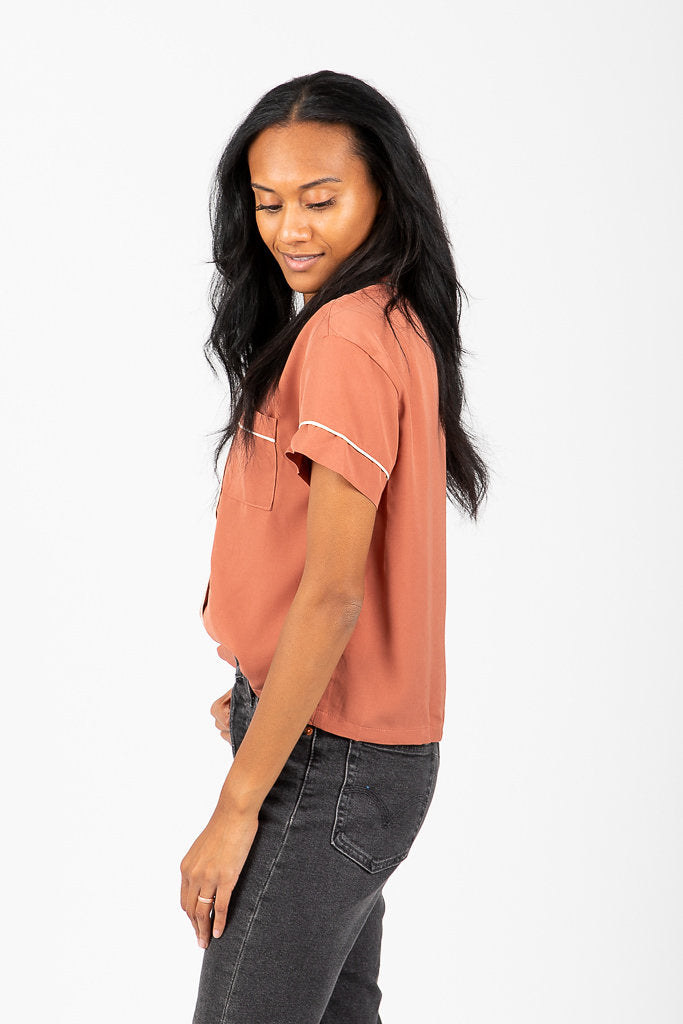 The Tolland PJ Blouse in Brick