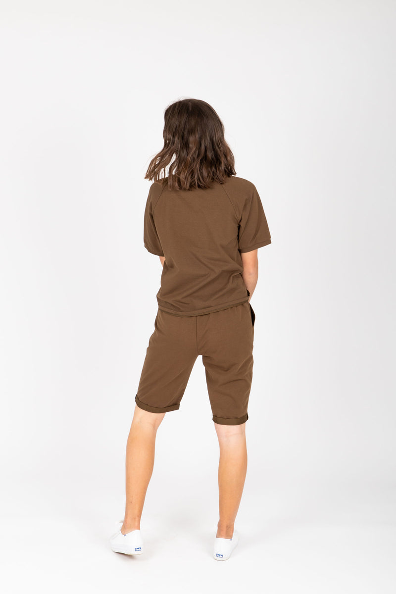 Piper & Scoot: The Kit Casual Shorts in Hunter Green