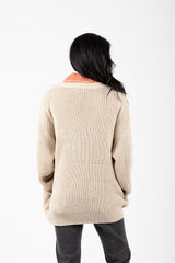 The Townsend Button Down Sweater in Taupe