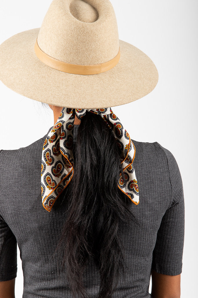 Indie Cream Paisley Neck Scarf