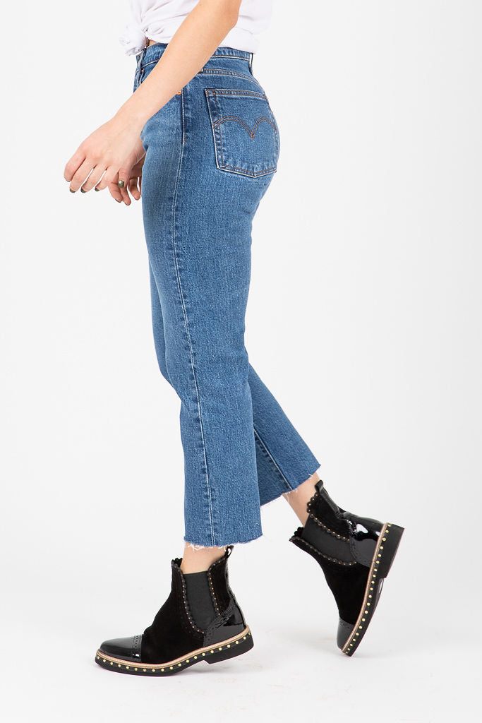 Levi's: Wedgie Fit Straight Jeans in Love Triangle