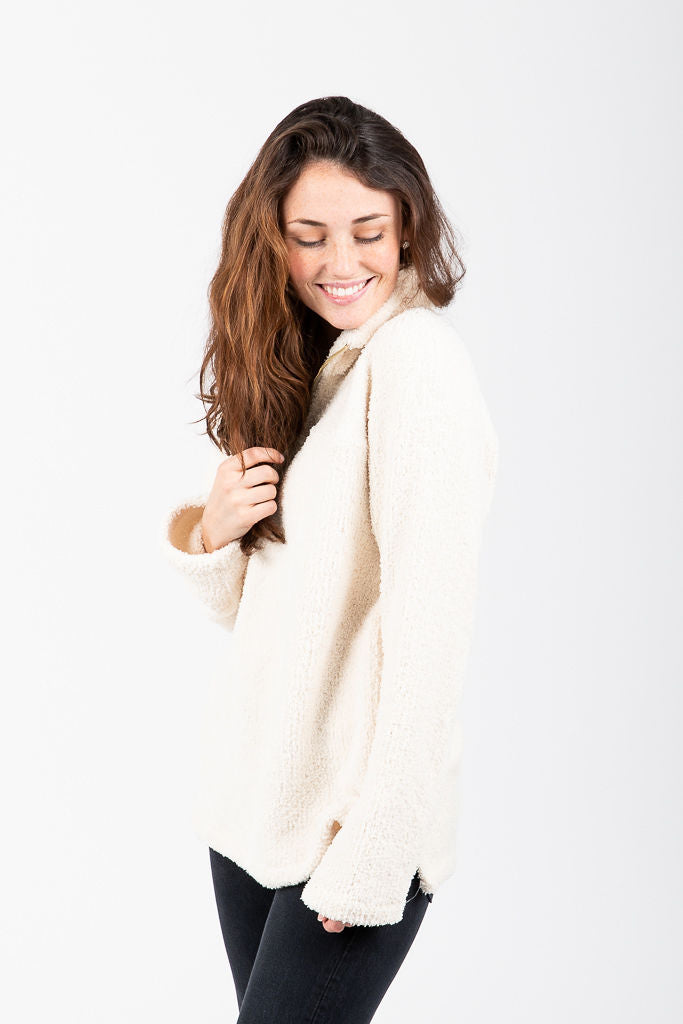 The Drayton Pullover in Ivory