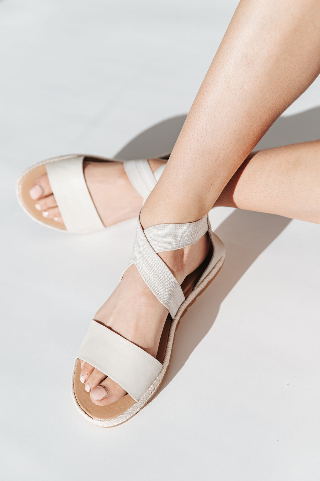 SOREL: Ella Sandal in Chalk
