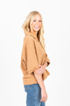 The Slick Collared Blouse in Light Camel