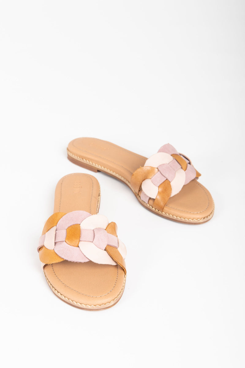 Crevo Footwear: The Poppi Slide Sandal in Blush