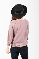 The Bethel Button Blouse in Mocha