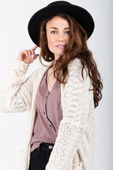 The Lamberton Textured Cardigan in Ivory